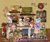 Interlitho-Franco, CHRISTMAS LANDSCAPES, WEIHNACHTEN WINTERLANDSCHAFTEN, NAVIDAD PAISAJES DE INVIERNO, paintings+++++,kitchen bakery,KL6184,#xl#