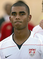 The United States' Tony Taylor (7) takes  the field before the FIFA Under 20 World Cup Group C Match between the United States and Germany at the Mubarak Stadium on September 26, 2009 in Suez, Egypt.