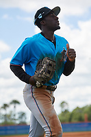 Miami Marlins outfielder Milton Smith II (39) during a Minor League Extended Spring Training game against the New York Mets on April 12, 2019 at First Data Field Complex in St. Lucie, Florida.  (Mike Janes/Four Seam Images)