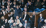 Sandy Jardine back at Ibrox after his cancer treatment and waving to the fans on the 2nd minute as he reveives a round of applause