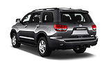 Car pictures of rear three quarter view of 2016 Toyota Sequoia 5.7-Auto-SR5 5 Door SUV Angular Rear