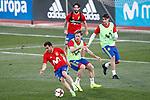Spain's Pedro Rodriguez, Nacho Monreal, Isco Alarcon and Alvaro Morata during training session. March 20,2017.(ALTERPHOTOS/Acero)