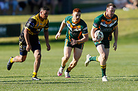 The Wyong Roos play Cessnock Goannas in Round 7 of the Reserve Grade Newcastle Rugby League Competition at Morry Breen Oval on 30th of August, 2020 in Kanwal, NSW Australia. (Photo by James Quigley/LookPro)