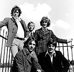 Bee Gees 1967 Barry Gibb, Colin Petersen, Robin Gibb, Vince Malouney and Maurice Gibb