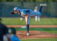 4 September 2016: Vermont Lake Monsters pitcher Derek Beasley on the mound against the Lowell Spinners at Centennial Field in Burlington, Vermont. The Lake Monsters fell to the Spinners 8-3 in NY Penn League action. Mandatory Credit: Ed Wolfstein Photo *** RAW (NEF) Image File Available ***