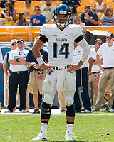 Villanova quarterback Zach Bednarczyk. The Pitt Panthers defeated the Villanova Wildcats 28-7 at Heinz Field, Pittsburgh, Pennsylvania on September 3, 2016.