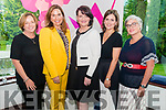 l-r Shela O'Sullivan, Magellan Duignam, Maria Maher, Irene Nash and Cathy Troth all from Tralee pictured at the Kerry Business Women's Networking Night in the Muckross Park Hotel Killarney last Thursday night.
