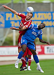 St Johnstone v Aberdeen...21.08.10  .Andrew Considine and Cleveland Taylor.Picture by Graeme Hart..Copyright Perthshire Picture Agency.Tel: 01738 623350  Mobile: 07990 594431