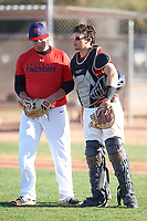 Guillermo Matos (47), from San Francisco, California, while playing for the Red Sox during the Under Armour Baseball Factory Recruiting Classic at Gene Autry Park on December 30, 2017 in Mesa, Arizona. (Zachary Lucy/Four Seam Images)