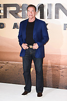 "LONDON, UK. October 17, 2019: Arnold Schwarzenegger at the ""Terminator: Dark Fate"" photocall, London.<br /> Picture: Steve Vas/Featureflash"