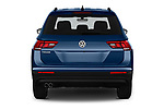 Straight rear view of a 2019 Volkswagen Tiguan Confrontline-business  5 Door SUV stock images
