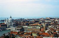 Venice:  From The Campanile--looking west to Santa Maria Della Salute.  Photo '83.