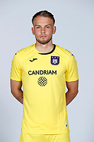 30th July 2020, Turbize, Belgium; Timon Wellenreuther goalkeeper of Anderlecht pictured during the team photo shoot of Rsc Anderlecht prior the new Jupiler Pro League season, on 30/07/2020, in Tubize, Belgium.