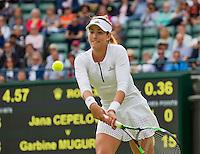 London, England, 30 june, 2016, Tennis, Wimbledon, Garbine Muguruza (ESP)<br /> Photo: Henk Koster/tennisimages.com