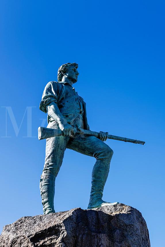 Minute Man Sculpture at Battle Green Park.