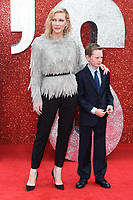 """Cate Blanchett and son Ignatius<br /> arriving for the """"Ocean's 8"""" European premiere at the Cineworld Leicester Square, London<br /> <br /> ©Ash Knotek  D3408  13/06/2018"""