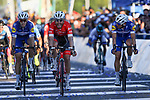 Giacomo Nizzolo (ITA) Trek-Segafredo wins Stage 7 of the Vuelta a San Juan 2018, running 141.3km from San Juan to San Juan. 28th January 2018.<br /> Picture: Ilario Biondi/BettiniPhoto | Cyclefile<br /> <br /> <br /> All photos usage must carry mandatory copyright credit (© Cyclefile | Ilario Biondi/BettiniPhoto)
