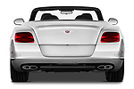 Straight rear view of a 2013 - 2014 Bentley Continental GTC Convertible.