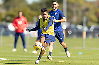BRADENTON, FL - JANUARY 19: Jesus Ferreira passes the ball during a training session at IMG Academy on January 19, 2021 in Bradenton, Florida.