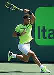 March 31 2017: Rafael Nadal (ESP) defeats Fabio Fognini (ITA) by 6-1, 7-5, at the Miami Open being played at Crandon Park Tennis Center in Miami, Key Biscayne, Florida. ©Karla Kinne/Tennisclix/Cal Sport Media