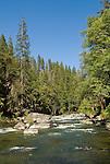 Mokelumne River down stream of the reservoir below White Azalia Campground, Amador County, Calif.
