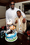 """Sean """"P Diddy"""" Combs and his son Christian Combs at Lavo  restaurant, Las Vegas, NV, April 1, 2010© Al Powers / RETNA ltd"""
