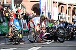 Mannheim, Germany, May 09: Before the start of the GBG Handbike- und Rollstuhl Halbmarathon at the SAP Arena Marathon on May 9, 2015 in Mannheim, Germany. (Photo by Dirk Markgraf / www.265-images.com) *** Local caption ***