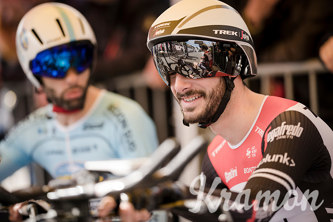 Julien Bernard (FRA/Trek-Segafredo) at the start of Stage 5 (ITT): Barbentane to Barbentane (25km)<br /> 77th Paris - Nice 2019 (2.UWT)<br /> <br /> ©kramon