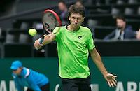 10-02-14, Netherlands,Rotterdam,Ahoy, ABNAMROWTT,   Sergiy Stakhovsky(UKR)<br /> Photo:Tennisimages/Henk Koster