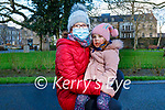 Elizabeth Kennedy (left) and Kate Byrne enjoying a stroll in the Tralee town park on Sunday.