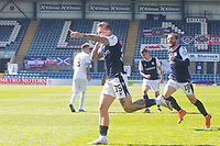 24th April 2021; Dens Park, Dundee, Scotland; Scottish Championship Football, Dundee FC versus Raith Rovers; Jason Cummings of Dundee scores the opening goal to put his side 1-0 ahead in the 12th minute