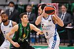 Liga ENDESA 2020/2021. Game: 16.<br /> Club Joventut Badalona vs Hereda San Pablo Burgos: 78-95.<br /> Xabi Lopez-Arostegui vs Vitor Benite.