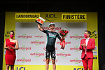 Ide Schelling (NED) Bora-Hansgrohe also wins the days combativity prize at the end of Stage 1 of the 2021 Tour de France, running 197.8km from Brest to Landerneau, France. 26th June 2021.  <br /> Picture: A.S.O./Pauline Ballet | Cyclefile<br /> <br /> All photos usage must carry mandatory copyright credit (© Cyclefile | A.S.O./Pauline Ballet)