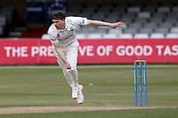 Matt Salisbury in bowling action for Durham during Essex CCC vs Durham CCC, LV Insurance County Championship Group 1 Cricket at The Cloudfm County Ground on 16th April 2021