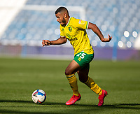 12th September 2020 The John Smiths Stadium, Huddersfield, Yorkshire, England; English Championship Football, Huddersfield Town versus Norwich City;  Onel Hernandez of Norwich City