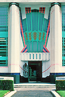 Wallis Gilbert: Hoover Factory, London. Entrance detail. Photo '87.