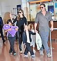 Brad Pitt and Angelina Jolie arrive in Japan