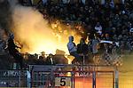 05.02.2011, Bruchwegstadion, Mainz, GER, 1. FBL, FSV Mainz 05 vs Werder Bremen, im Bild Pyrotechnik im Werder-Block, Foto © nph / Roth