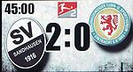 Halbzeitstand 2:0 fuer SV Sandhausen  beim Spiel in der 2. Bundesliga, SV Sandhausen - Eintracht Braunschweig.<br /> <br /> Foto © PIX-Sportfotos *** Foto ist honorarpflichtig! *** Auf Anfrage in hoeherer Qualitaet/Aufloesung. Belegexemplar erbeten. Veroeffentlichung ausschliesslich fuer journalistisch-publizistische Zwecke. For editorial use only. For editorial use only. DFL regulations prohibit any use of photographs as image sequences and/or quasi-video.
