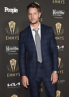 NORTH HOLLYWOOD - SEPT 17: Justin Hartley at the exclusive reception honoring the 73rd Emmy Awards Performer Nominees at the Television Academy on September 17, 2021 in North Hollywood, California. (Photo by Scott Kirkland/PictureGroup)