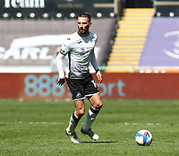 17th April 2021; Liberty Stadium, Swansea, Glamorgan, Wales; English Football League Championship Football, Swansea City versus Wycombe Wanderers; Conor Hourihane of Swansea City looks up for support