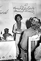 Iraq 1963 .Jalal Talabani speaking at a meeting aside the conference of Koysanjak, left, Sheikh Latif.Irak 1963.Jalal Talabani intervenant dans un meeting en marge de la conference de Koysanjak, a gauche Sheikh Latif