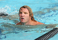 Warrior's Todd Lowrie at their pool session after training at Carisbrook, Moana pool, Dunedin, New Zealand, Friday, February 20, 2013. Credit:NINZ / Dianne Manson.
