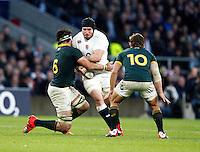 Photo: Richard Lane/Richard Lane Photography. England v South Africa. QBE Autumn International. 15/11/2014. England's Ben Morgan attacks.
