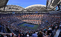 8th September 2021; New York, USA; General view of stands packed with fans at the 2021 US Open Center Court