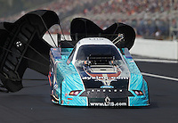 Mar. 17, 2013; Gainesville, FL, USA; NHRA funny car driver Tim Wilkerson during the Gatornationals at Auto-Plus Raceway at Gainesville. Mandatory Credit: Mark J. Rebilas-