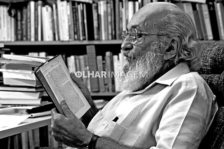 Pessoa. Personalidade. Educador Paulo Freire. SP. 1986. Foto de Juca Martins.