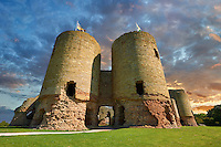Rhuddlan Castle built in 1277 for Edward 1st next to the River Clwyd, Rhuddlan, Denbighshire, Wales