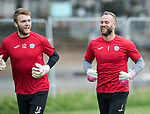 St Johnstone Training…22.09.17<br />Keeper Alan Mannus pictured during training ahead of tomorrow's game against Hamilton with Zander Clark<br />Picture by Graeme Hart.<br />Copyright Perthshire Picture Agency<br />Tel: 01738 623350  Mobile: 07990 594431