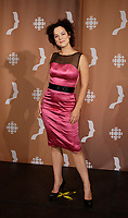 Montreal (Qc) CANADA - Sept 14, 2008 - <br /> <br /> <br /> Helene Bourgeois-Leclerc, 2008 Gemeaux Gala rewarding French-Canadian television.